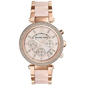 Michael Kors MK5896 Parker Blush & Rose Gold-Tone